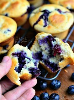 Break off a piece of blueberry muffin heaven for breakfast.