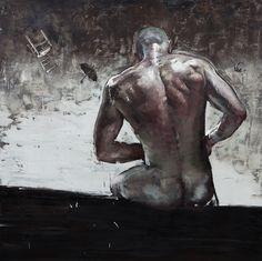 """""""Colosso"""" 2013 óleo sobre tela, 200 x 200 cm"""