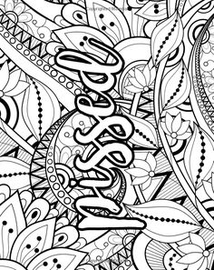 Potty Mouth A Coloring Book for Sweary Adults Swear Word Coloring Book, Love Coloring Pages, Printable Adult Coloring Pages, Coloring Books, Coloring Sheets, Coloring Stuff, Sayings, Doodle Art, Zentangle