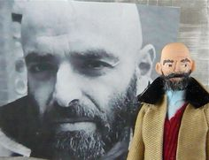Shel Silverstein Author of  Where the Sidewalk Ends Doll Miniature. $38.00, via Etsy.
