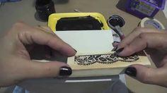 Video-Aula: Caixa com carimbo de renda e arabesco