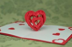 Valentine's Day Pop Up Card: Heart Tutorial - Creative inside Heart Pop Up Card Template Free - Great Professional Templates Pop Up Valentine Cards, Valentine Day Crafts, Valentines, Valentine Heart, Birthday Card Template, Christmas Card Template, Birthday Cards, Pop Up Card Templates, Free Business Card Templates