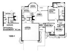 The Heritage House Plan: Basement door bookcase? So it looks like the other side... flip plan. 1300 sqft