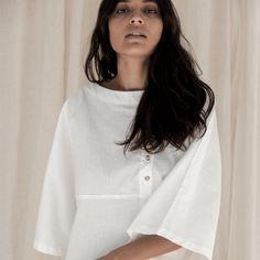 Berber Asymmetrical Shirt - Vintage White