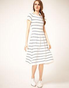 I love stripes! ASOS Midi Striped Knit Dress