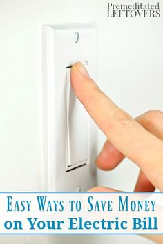 Cut your home energy costs by making some very simple changes. Here are 5 Easy Ways to Save Money on Your Electric Bill that you can use any time of year. Life hack and DIY money saving idea.