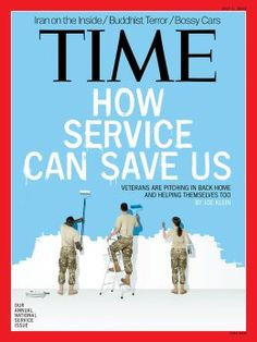 June 1, 2013. How Service Can Save Us. Photo-Illustration by Andrew B. Myers for TIME; styling by Kirsten Reader; typography by Joe Zeff Design.