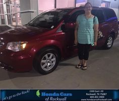 https://flic.kr/p/LAjZgL | Congratulations Crystal on your #Chrysler #Town & Country from Zoltan Bango at Honda Cars of Rockwall! | deliverymaxx.com/DealerReviews.aspx?DealerCode=VSDF