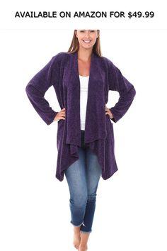25e6a398dd Alexander Del Rossa Knit Fleece Open Front Sweater Robe