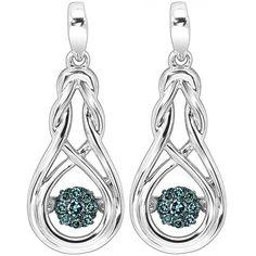 Hoppe Jewelers - 14RD BLUE D=.16CTW SS ENDLESS KNOT ROL DNGL EARS, $299.0 (http://www.hoppejewelers.com/14rd-blue-d-16ctw-ss-endless-knot-rol-dngl-ears/)