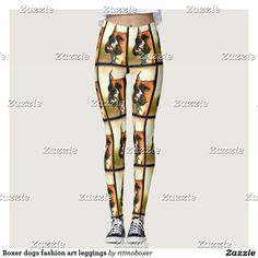 Boxer dogs fashion art leggings