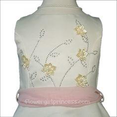 Audrina - Ivory Satin Sparkling Flower Girl DressFlower Girl Dresses, Ships Today, Ivory, A-Line Girls Dresses, Beaded Dresses, Satin Dresses, All Dresses