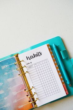 Habit tracker printables for your planner! Plus, tips on creating habits and making them stick!