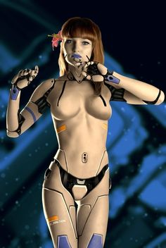 future, futuristic, cyberpunk, sci-fi girl, Android, Future Girl, Robot Girl, futuristic girl, female bot, sexy girl, beautiful girl by FuturisticNews.com