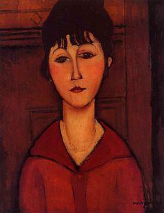 Amedeo Modigliani, Tête de jeune fille, 1916