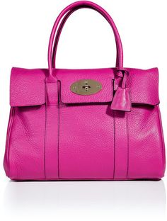 MULBERRY Hot Fuchsia Bayswater Bag - Polyvore