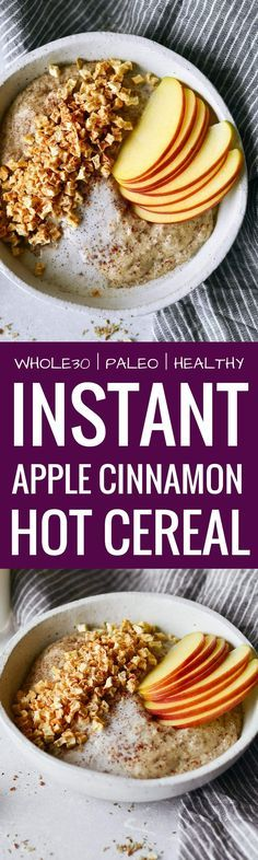 Instant apple cinnam #paleopantryideas
