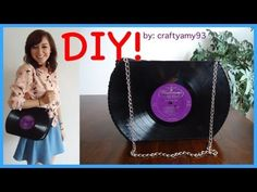 DIY Record Purse Tutorial - What a neat idea! :)