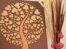 Check out our jubilee tree selection for the very best in unique or custom, handmade pieces from our patterns shops. Wooden Easel, Guestbook, Writing Instruments, Wedding Guest Book, Personalized Wedding, Unique Gifts, 3d, Handmade, Hearts