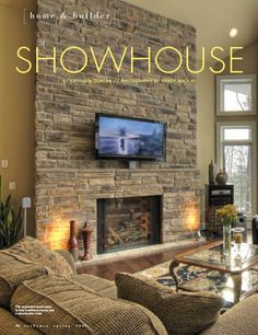 cultured stone feature walls in this custom built home, as featured in Our Homes magazine.
