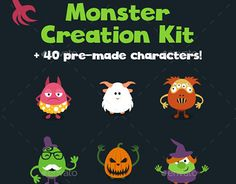 """Check out new work on my @Behance portfolio: """"Monster Creation Kit and Large Pack"""" http://be.net/gallery/50721595/Monster-Creation-Kit-and-Large-Pack"""