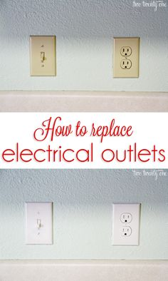 Get rid of those outdated almond colored outlets!