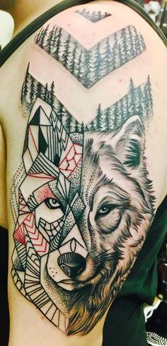 Geometric-Shift Wolf Tattoo by Ty'Esha Reels @ Wyld Chyld in Pittsburgh