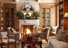 What a lovely room....beautiful wood and fireplace...and the window seat is a bonus.