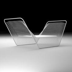 sièges, armature filaire, Nest Lounge, Minimal