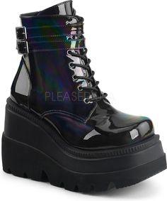 Demonia Shoes - SHAKER-52 Black Hologram