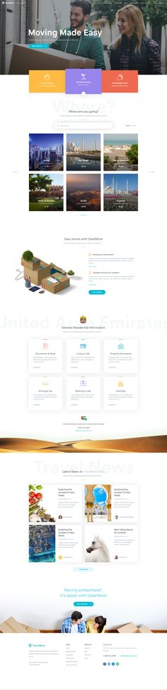 Clearmove - Homepage, Ui design concept and visual language by Balkan Brothers.