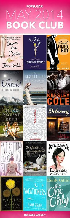 May 2014 Book Club: the best new books out this month for beach reading and wedding season!