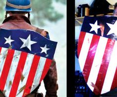 Less than $20.00 to make a WWII Captain America Shield - DIY. I dream of doing a Vintage/40's Captain America costume in the future. =)
