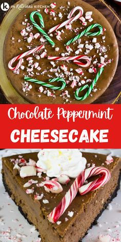 The perfect balance of festive flavors - chocolate and peppermint - come together in this silky smooth cheesecake. Recipes Using Fruit, Snack Recipes, Dessert Recipes, Peppermint Cheesecake, Homemade Cheesecake, Chocolate Muffins, Chocolate Desserts, Christmas Recipes, Holiday Recipes
