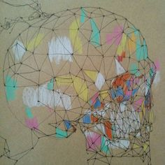 Skull (part of the whole artwork) © Carlos Quitério