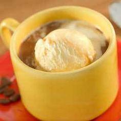 Cuban Coffee Affogato Recipe Beverages with sugar, breyers smooth & dreamy 1/2 the fat creamy vanilla ice cream, coffee