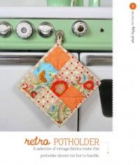 Retro Potholder from Stash Happy Patchwork