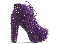 Jeffrey Campbell Lita Spike 2 in Purple Suede Silver at Solestruck.com