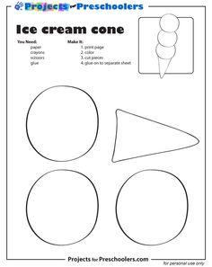 Shapes Ice Cream Cone printable