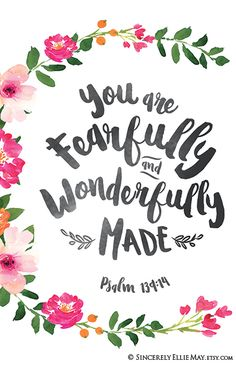 Thank You Quotes Discover Psalm 139 Newborn Baby Girl Quote Wall Art Print - You Are Fearfully And Wonderfully Made Printable for Christian Nursery or Friend 40089 Newborn Baby Girl Quotes, New Baby Quotes, Little Girl Quotes, Bible Verses Quotes, Bible Scriptures, Faith Quotes, Psalm 139, Wall Art Quotes, Quote Wall