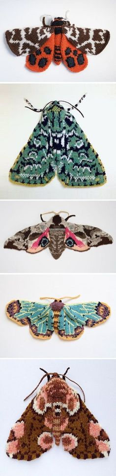 Knitted Moths by Max Alexander / on the Blog!