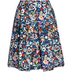 Saloni Lexi printed matelassé skirt ($460) ❤ liked on Polyvore featuring skirts, navy, navy print skirt, colorful skirts, pattern a line skirt, multi color skirt and navy a line skirt