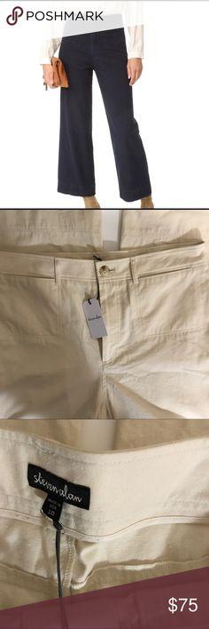 "NWT Steven Alan Monroe Ivory Pant Size 10 Steven Alan Monroe Pant in color cream. Size 10. Approximate flat lay measurements are Waist 16"", Hips 19, Inseam 28"", Rise 13"". Steven Alan Pants"