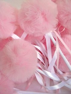 Pink powder puffs