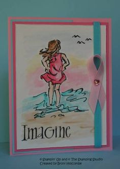 Imagine a Cure using Stampin Up Seaside Sketches