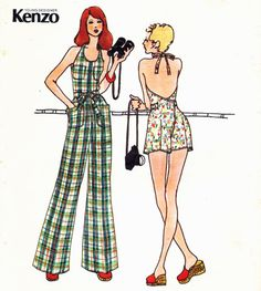 '70s fashion illustrations by Kenzo.
