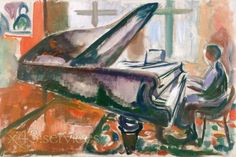 Edvard Munch - Am Fluegel - At the Grand Piano.
