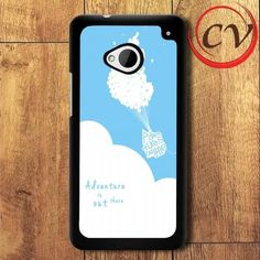 Adventure Is Out There Balloon HTC One M7 Black Case