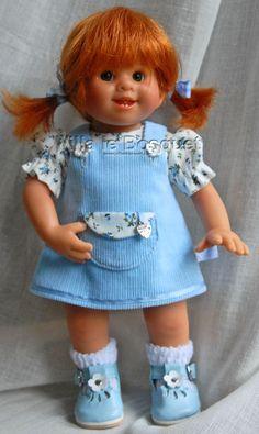 POUPEE ORIGINAL MÜLLER-WICHTEL CELESTINE PETITE SOEUR - poupée de collection de Rosemarie Müller