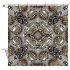 Vintage Pearl Diamond Shower Curtain CafePress Girly Pearls